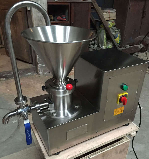 US $699 56 19% OFF|30 50kgs/h Capacity Homogenizer Colloid Mill Stainless  Steel Wet/Dry Food Grinder Butter Sesame Soybean Processing Machine-in Food