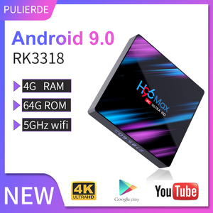 Image 1 - PULIERDE 4 GB 64 GB Android 9.0 TV Box Rockchip RK3318 4 K Smart TV Box 2.4 Ghz 5 GHz Wifi bluetooth 4.0 lecteur multimédia décodeur