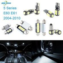 XIEYOU 17pcs светодиодный Canbus Внутреннее освещение комплект посылка для 5 серии E60 E61(2004-2010