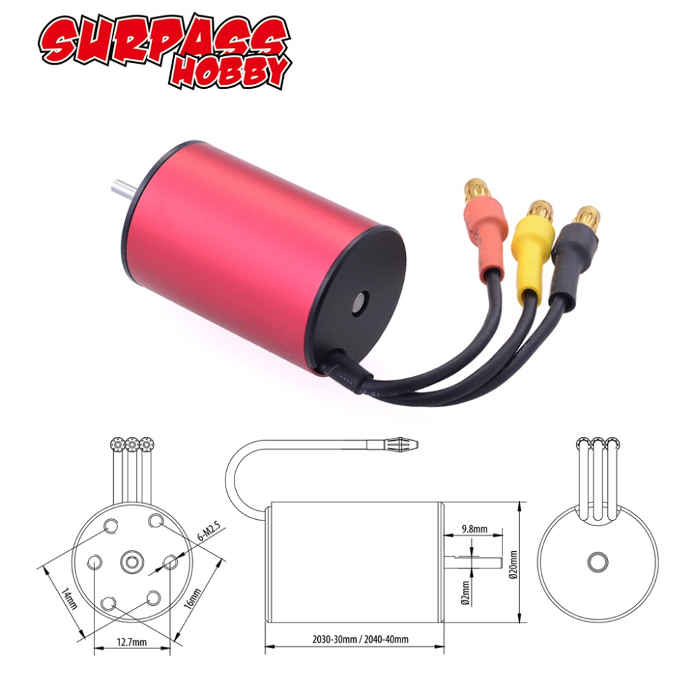 Image 2 - KK 2.3mm 2040  2280KV 3200KV 3900KV 4480KV Waterproof Brushless Motor for Traxxas HSP Tamiya Axial 1/16 1/18 RC Buggy Car-in Parts & Accessories from Toys & Hobbies