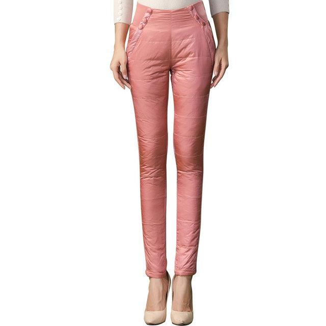 De espesor de doble cara desgaste externo bajó los pantalones femeninos pantalones de encaje Delgado delgado grueso del nuevo invierno más el terciopelo pantalones de las mujeres