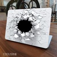 3D Crack Wall Laptop Skin Sticker Decal For Apple Macbook Sticker Pro Air Retina 11 12