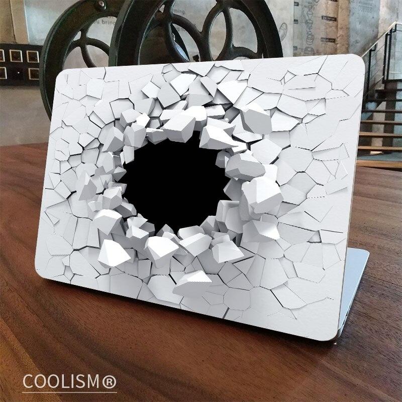 3D Crack Wall Laptop Skin Sticker Decal for font b Apple b font font b Macbook