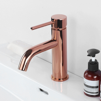 Rose Gold Brass Bathroom Basin Faucet Single Handle Deck Mounted Hot And Cold Bathroom Sink Water Mixer Tap new arrival bathroom white faucet deck mounted cold and hot water tap soild brass white painted sink faucets mixer
