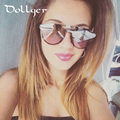 Dollger Round sunglasses for womens and mens glasses High quality colorful double frame sunglasses HD lens gafas de sol s1305