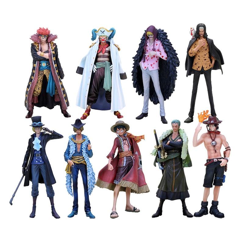 17cm Hot Anime One Piece The Grandline Men 15th Edition Monkey D Luffy Ace Zoro Sanji Sabo Lucci Kid PVC Action Figure Model
