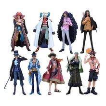 17 cm Anime chaud une pièce les Grandline hommes 15th édition singe D Luffy Ace Zoro Sanji Sabo Lucci enfant PVC figurine modèle