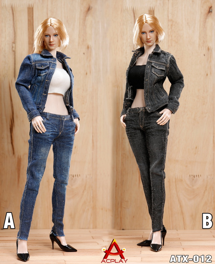 "1//6 CPLAY Women Jacket Jeans Clothes Set ATX012A F 12/"" Phicen Female Figure Body"