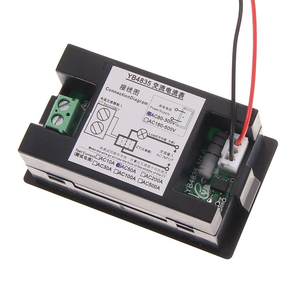 Amp Meter Ac0 100a Range Digital Ac Ammeter Current Tester Wiring Diagram Ac80v300v Transforme Blue Light Fuli