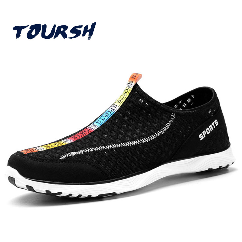 Men Shoes 2018 Summer Sneakers Breathable Network Casual Shoes Fashion Comfortable Slip On Flats Shoes Footwear Tenis Masculino