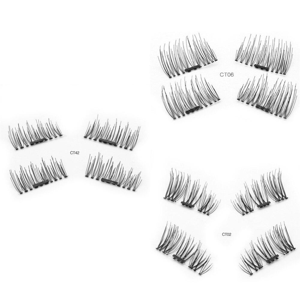 Fashion Fake Lashes 6D Magnetic Eyelashes Double Magnet