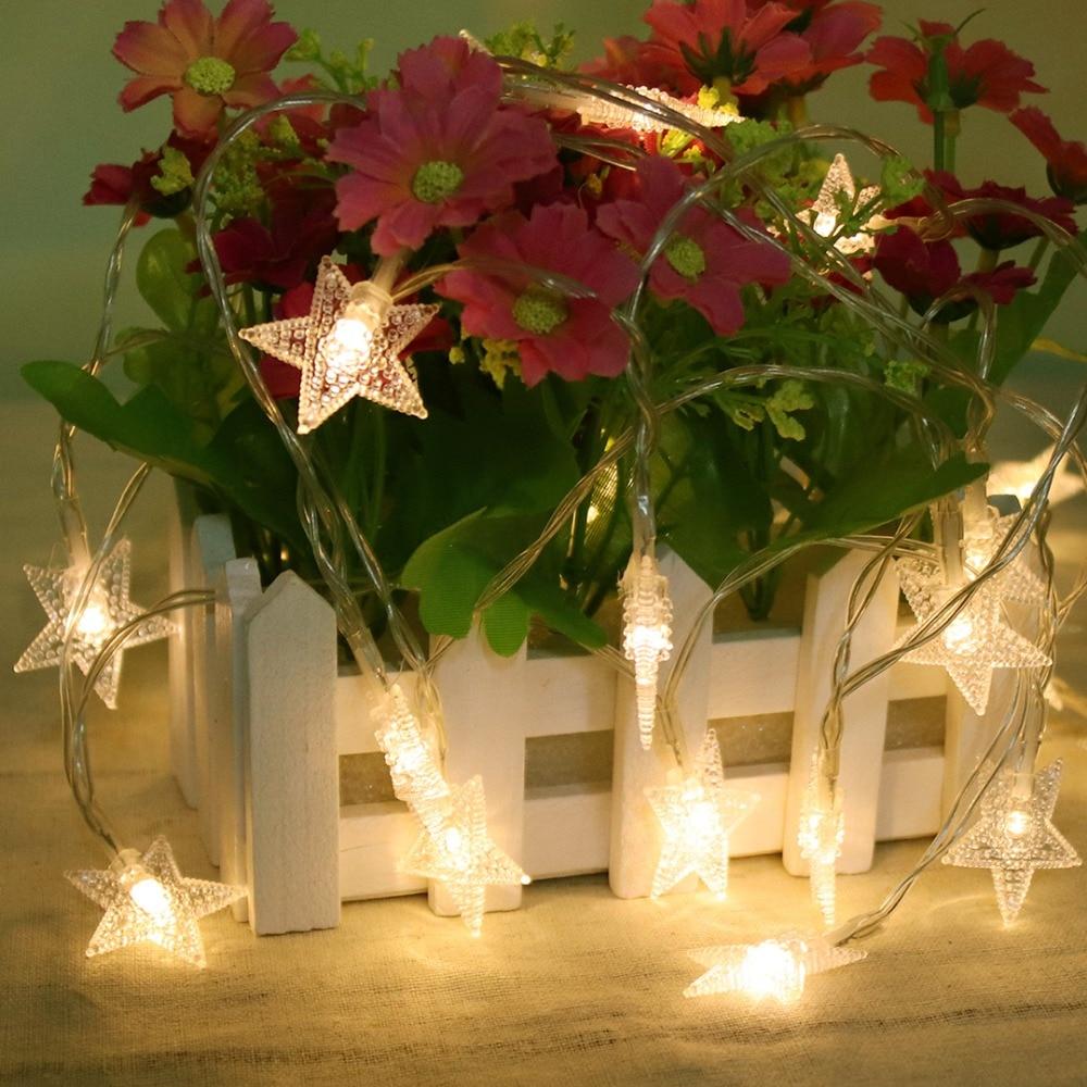 Светодиодна светлина 1М 10 светодиода - Празнично осветление - Снимка 3