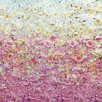 9ft x 7.9ft Wedding Flower Wall gradual change hot pink flower backdrop wedding stage decoration