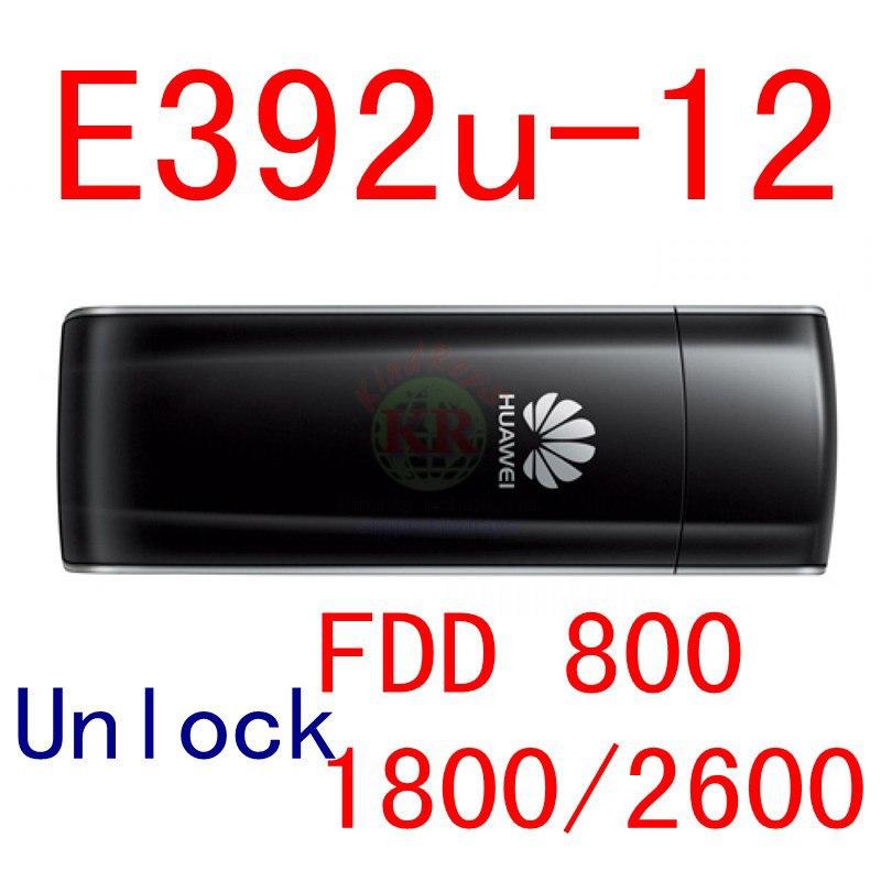 Unlocked Huawei E392 E392U-12 4G LTE USB Modem 4g lte stick 4g lte modem 4g USB dongle support pk E3276 E586 E392U zte mf823d 4g lte fdd 800 1800 2600mhz wireless modem usb stick data card