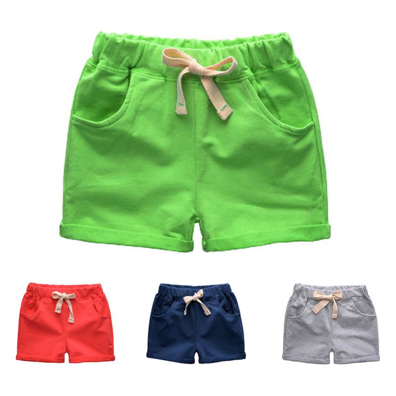 Summer Solid   Short   Pants For Baby Boy Loose Mid Waist Casual Trousers Sports Beach Kids Children's   Shorts   Pants