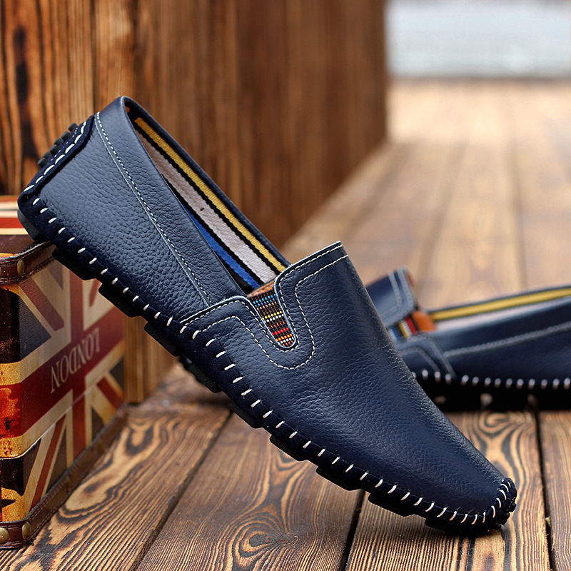 100% Genuine Leather Doug Loafers Shoes 2016 New Arrival Mens Casual Shoes Slip-on Fashion Breathable Shoes SL-930