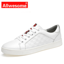 Allwesome Brand Mens Genuine Leather Sneakers Men High Quality Skateboard Shoes Outdoor Trainer Fashion Lace Up Shoe
