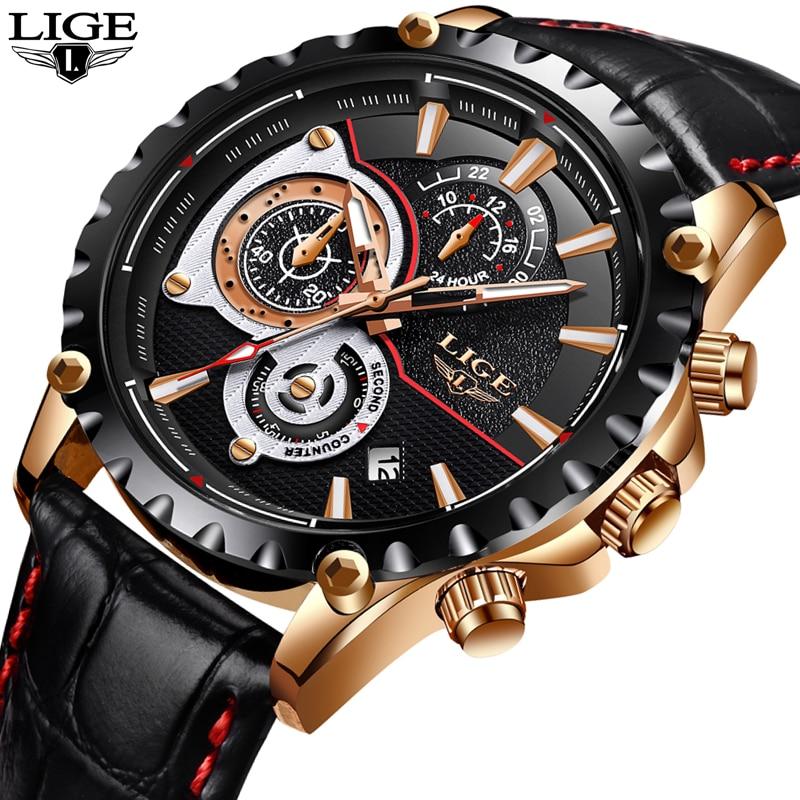 2018 Nouvelle Mode LIGE Mens Montre Hommes Complet Steel Business Watch Date Chronographe À Quartz-montre Mâle Cadeaux Horloge Relogio masculino
