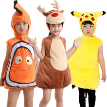 Animal Cosplay Baby Kids Fish Clownfish Nemo Elk Pikachu Costume Pixar Animated Film Finding Christmas Purim Carnaval