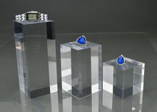 ФОТО Set of Three Acrylic Crystal Jewelry Store Organizer Display Block Showcase Holder Plexiglass Paperweights