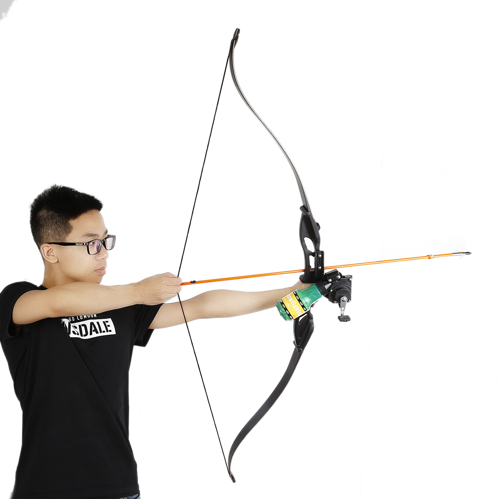 все цены на Ourpgone Archery Recurve Bow Fishing Spincast Reel Compound Bow Shooting Tool Fish Hunting Bow Fishing Slingshot + Free shipping онлайн