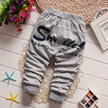 2016 Spring New Infant Girl Child Covered with Fine Lattice Star Knitting Trousers Baby Pants Children Boys Harem Pants