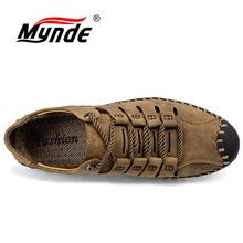 Mynde Summer Comfortable Men Casual Shoes Loafers Men Shoes Quality Split Leather Shoes Men Flats Moccasins Shoes Size 38-46