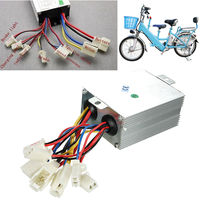 24V 500W Silver Aluminium Brushed Motor Speed Controller For Electric Bicycle Scooter Bike 85 65 38mm