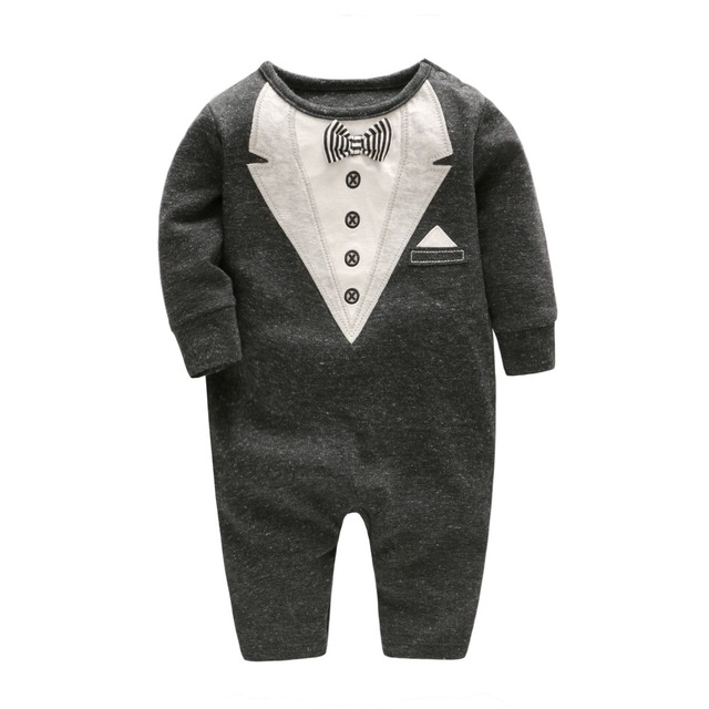 2018 newborn baby boy winter clothes 100% Cotton Long Sleeve Baby Rompers  Soft Infant Baby girl Clothing Set Jumpsuits f71352185bcc