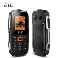"""E & L K6900 телефон IP68 Водонепроницаемый 1.8 """"32mb Оперативная память 32 МБ Встроенная память двойной Мобильные SIM-карты прочный мобильный телефон 2 г GSM FM клавиатура разблокирована сотовый телефон"""