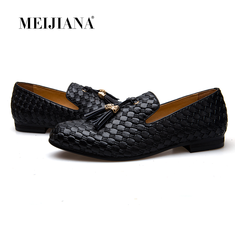 Meijiana Men Shoes Breathable Luxury Brand BV Loafers Men's