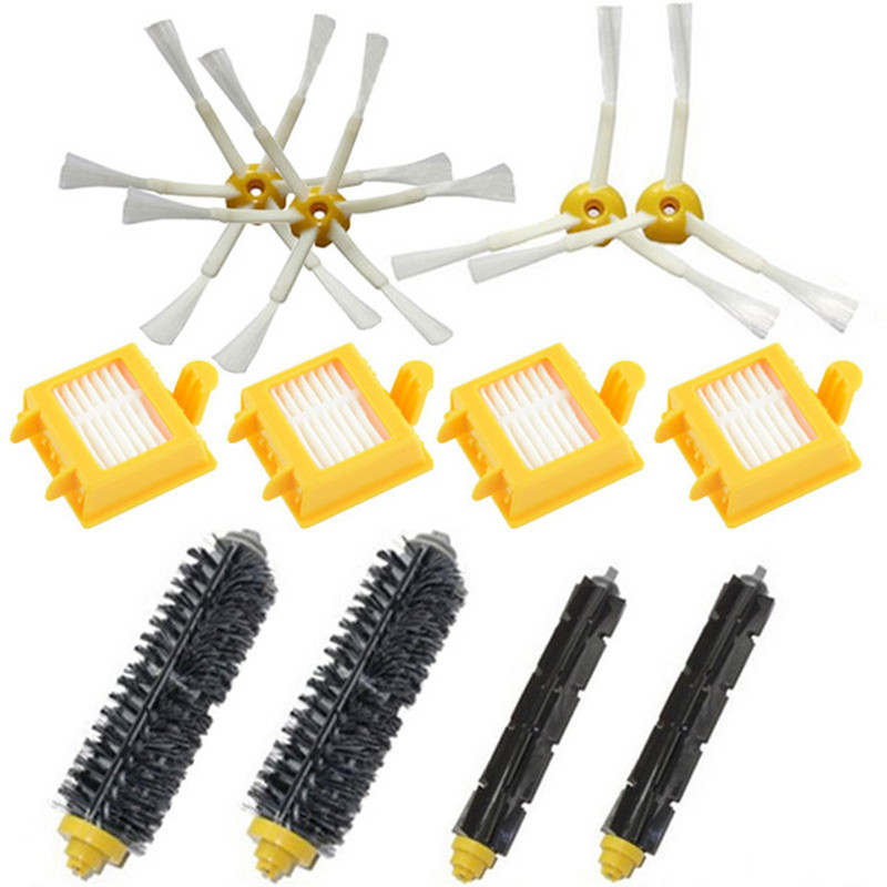 Bristle Flexible Beater Brush Side Brush hepa filter replacement kit For iRobot Roomba 700 770 780 750 760 761 790 vacuum parts 14pcs lot side brush bristle flexible beater brush hepa filter for irobot roomba 700 760 770 780 series vacuum cleaners parts