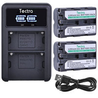 1800mAh 2PCS NP FM500H NPFM500H Camera Batteries for Sony A57 A65 A77 A450 A560 A580 A58 NP FM500H Battery+LED USB Dual Charger