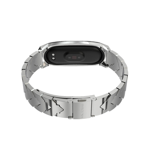 Image 4 - Strap for Mi Band 5 NFC Global Version Bracelet for Xiaomi Mi Band 4 Wristbands Metal Wrist Strap for Mi Band 3 Stainless Steel