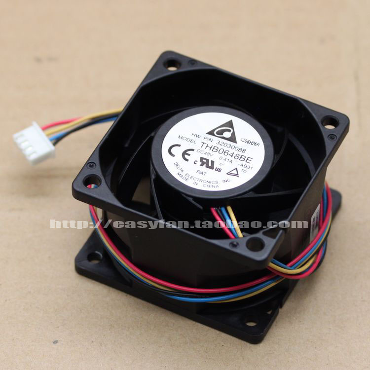 Delta THB0648BE AB31 DC 48V 0.41A 60x60x38mm Server Square fan