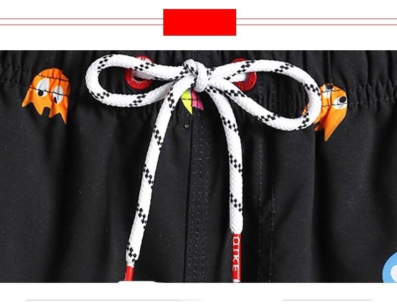 Qikerbong calções de praia dos homens boxer