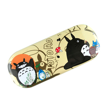 Anime My Neighbor Totoro Cartoon Logo PU Leather Glasses Box Spectacle Case Eyeglasses for children #41
