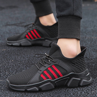 2019 Brand Outdoor Air Running Shoes Sneakers for Men Breathable Mesh Shoes High Quality Lace Up Men Casual Fashion Red Shoes