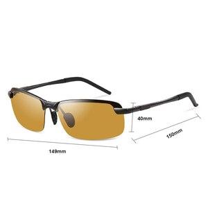 Image 4 - 2018 Nachtzicht Bril Gepolariseerde Zonnebril Mannen Mode Nachtzicht Rijden Zonnebril Zonnebril Mannelijke Eyewear Dag en Nacht