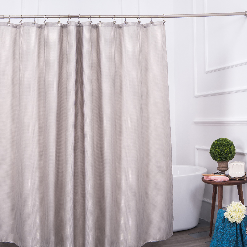 Great Aimjerry Eco Friendly Grey Waterproof Fabric Bathroom Bathtub Shower Curtain  Clear Liner With 12pcs Hooks 71*71 Accept Custom In Shower Curtains From  Home ...