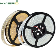 5m 3528 SMD 1200 LED 12V Double Line led flexible light 240 / m Non waterproof strip white warm lights New