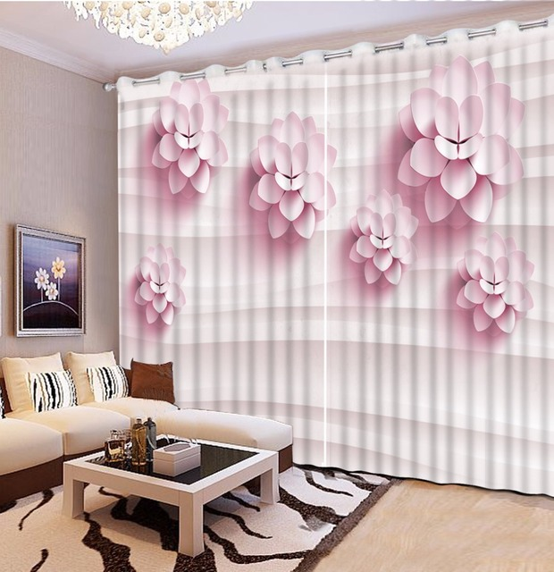 Finestra Tende Per La Camera Da Letto moderna rosa fiore grils ...