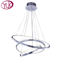 Free Shipping Luxury Modern Acrylic Chandelier For Living Room LED Alumiunm Home Lamp Three Rings Lustres