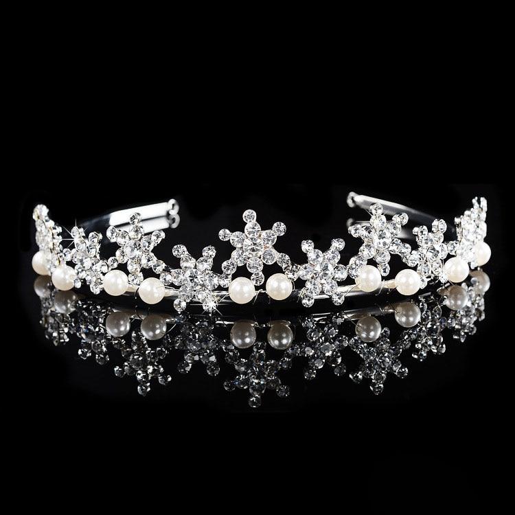 SLBRIDAL Legering Bryllup Tiara Rhinestones Pandebånd Crystal Brude - Mode smykker - Foto 2