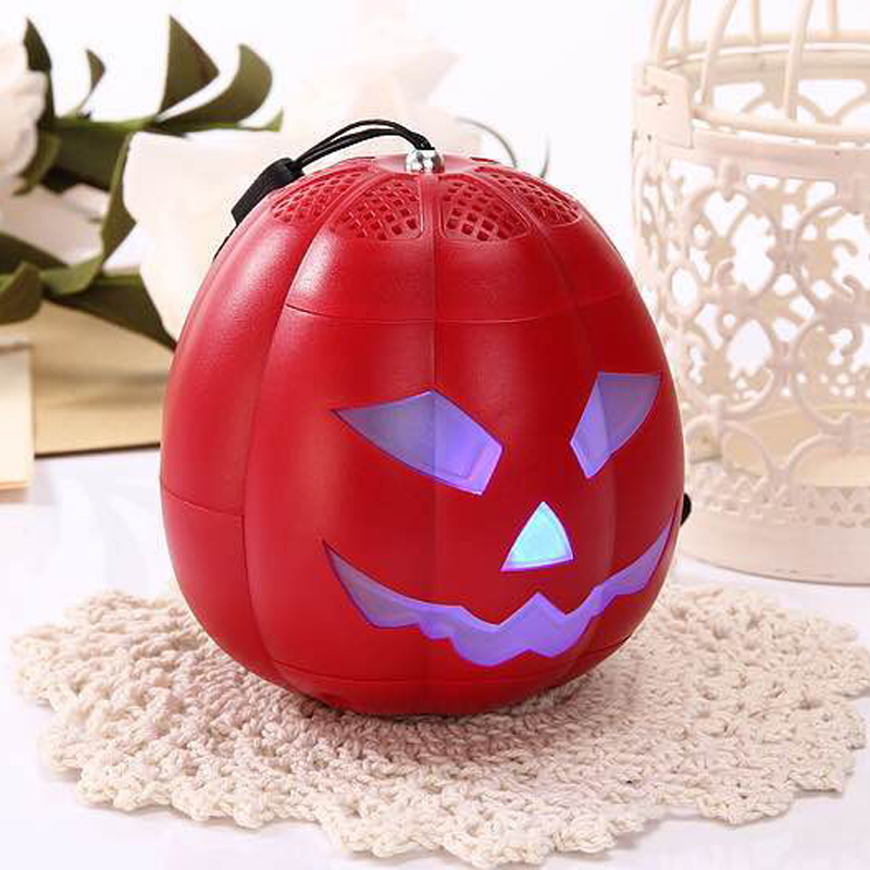 bluetooth mini led light speaker pumpkin wireless loudspeaker gift for kids children halloween holiday portable soundbox - Kids Halloween Radio