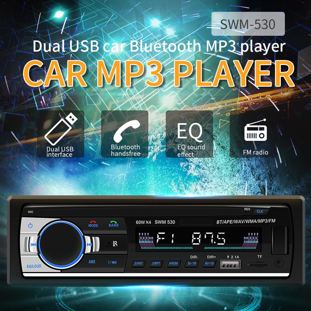 2018 New Fashion Auto Radio Car MP3 Bluetooth Handsfree Car MP3 Player Car Charging MP3 Card Radio Dropship 9.17 rk522 bluetooth avtomobilnyj mp3 pleer avtomobilja radio plagin karty avtomobilnyj multimedijnyj pleer media player 12 v mp3 vosproizvedenija radio tjuner