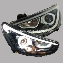 Для HYUNDAI ACCENT SEDAN светодиодные фары 2012