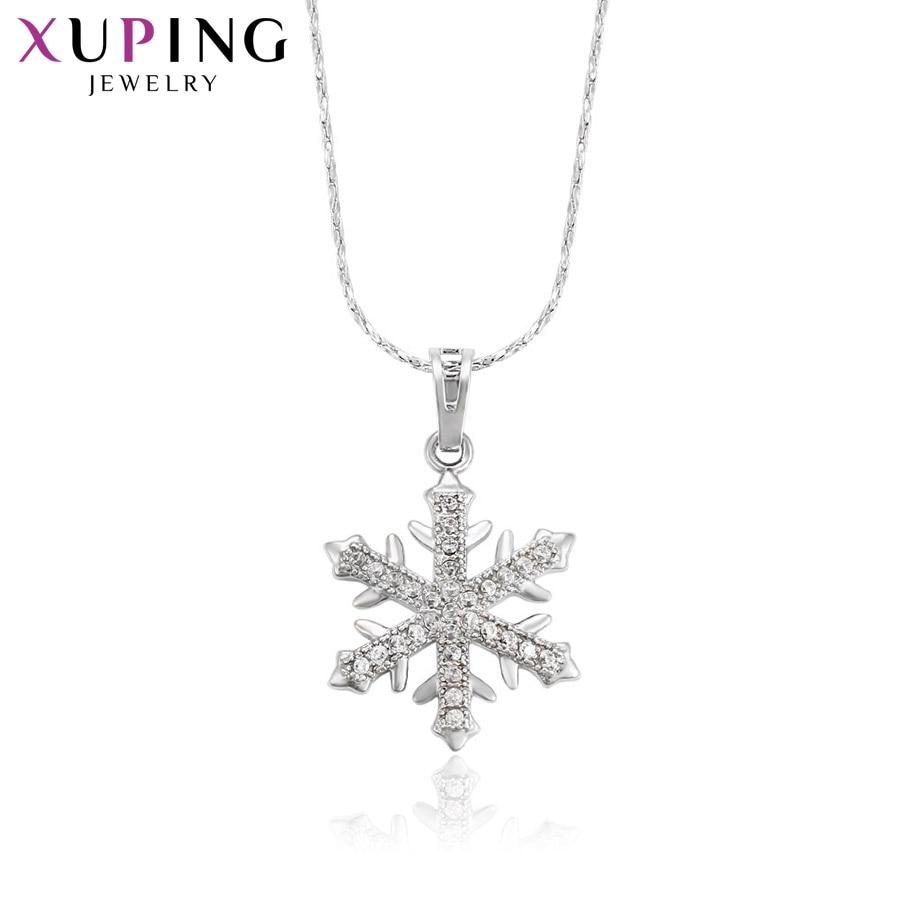 11,11 сделок Xuping модные элегантные Снежинка Кулон Родий Цвет покрытием украшения для Для женщин подарок на день матери M37-30111