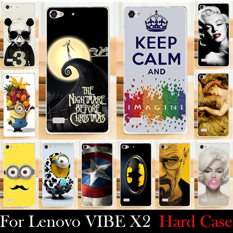 FOR Lenovo VIBE X2 Hard Plastic Mobile Phone Cover Case DIY Color Paitn Cellphone Bag Shell  Shipping Free