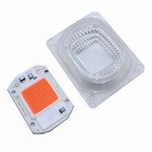 5 комплектов 50 Вт/20 Вт/30 Вт светодиодный с полным спектром для выращивания растений светильник COB шарик AC220V 110 Наводнение светильник лампа светодиодные чипы 380-840nm Объектив